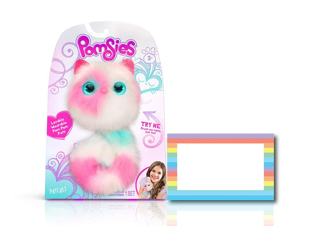 Ropeastar Pomsies Plush Interactive Toys Pompom Interactive Pet Toys Birthday Gift Ideas Unique for Girls Take Along Fashionable Toys Adorable Toys for Little Girl Sherbert