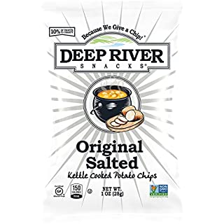 Deep River Snacks Original Sea Salt Kettle Cooked Potato Chips, 1-Ounce (Pack of 80)