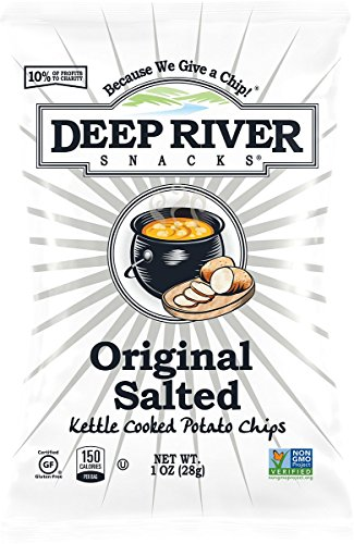 Deep River Snacks Original Sea Salt Kettle Cooked Potato Chips, 1-Ounce (Pack of 80) (Best Kettle Cooked Chips)