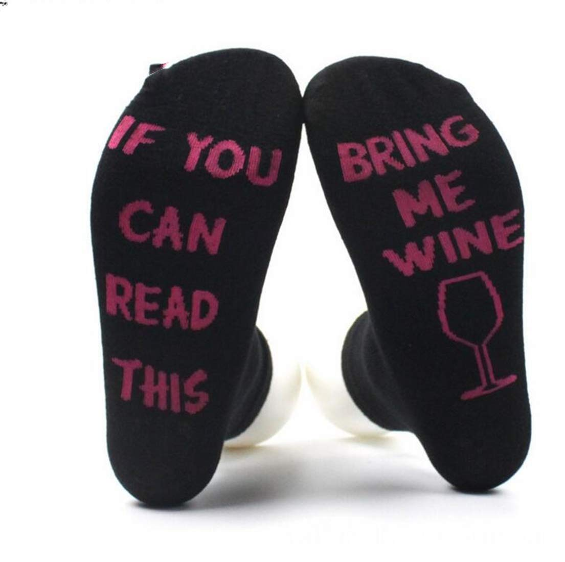 Heyuni.1pair Novelty Beer Funny Cotton Wine Socks If You Can Read This Bring Me Beer for Women Men, 1#