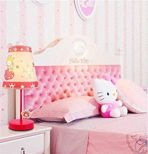 Kindertischlampe Schlafzimmer Nacht Studie Art und Weise neue nette Karikatur Prinzessin Raum ländlichen warme LED-Beleuchtung