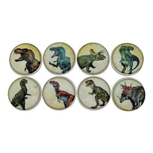 (Set of 8 Dinosaur Wood Cabinet Knobs)