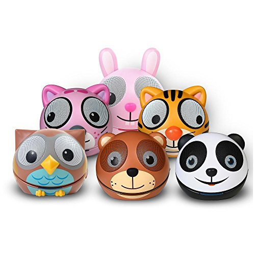 Zoo-Tunes MCSBTFAM Family Compact Portable Bluetooth Stereo Speakers Includes Panda/Owl/Tiger/Bear/Kitten/Rabbit Character Shaped Speakers by Zoo Tunes