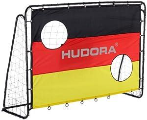 Hudora Fußballtor Match D, schwarz, 213 x 152 x 76 cm