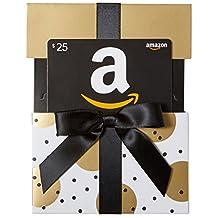 Amazon.ca $25 Gift Card in a Gold Reveal (Classic Black Card Design)
