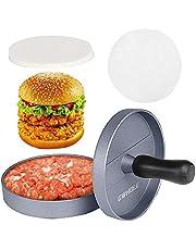 GWHOLE Non-Stick Hamburger Press Burger Maker with 100 Wax Discs, Ideal for BBQ