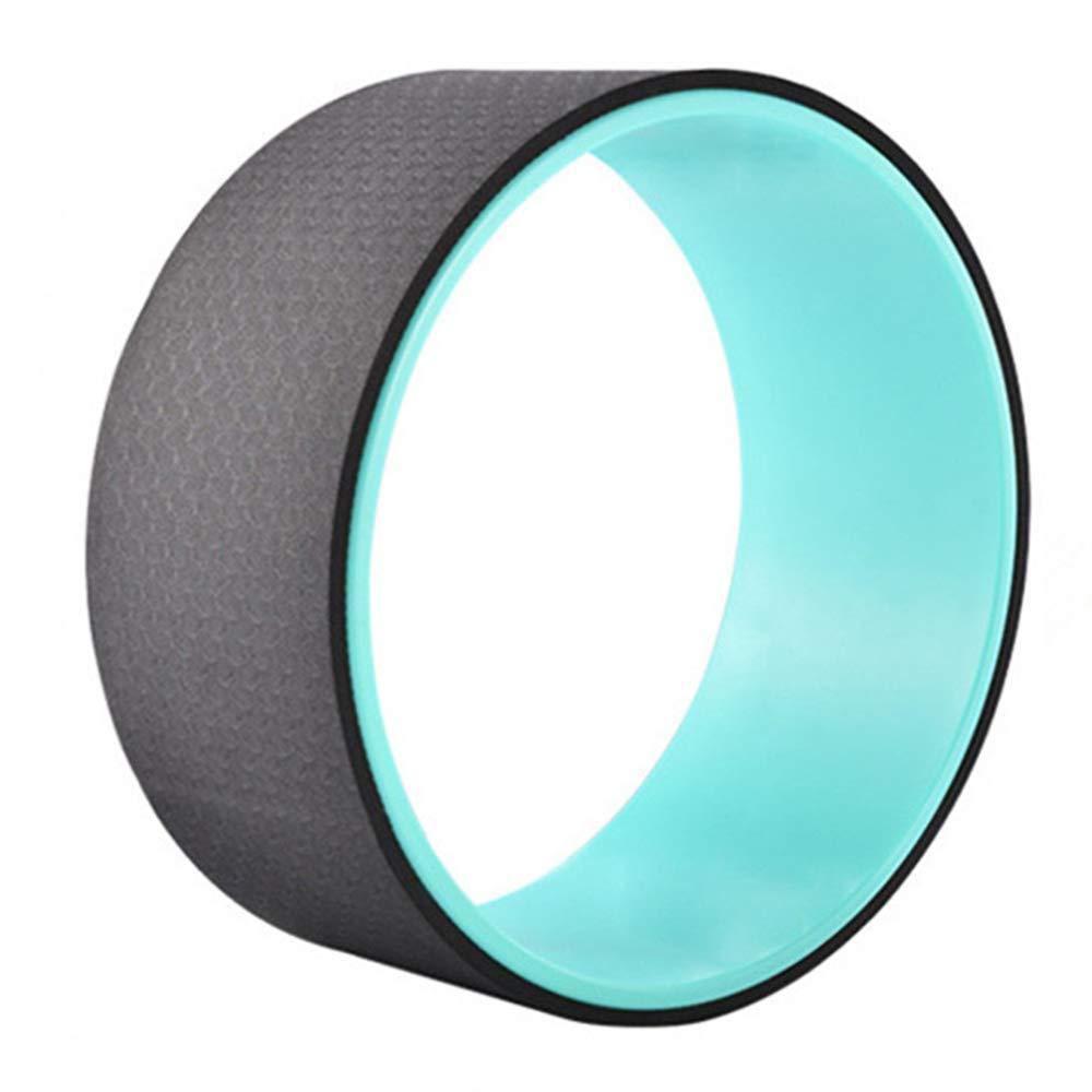Black Yoga Training Aids Yoga Wheel Yoga Circle Stretch Back Bend Roller Fitness Beauty Back Shape Compression AntiSlip 12  5 Inch