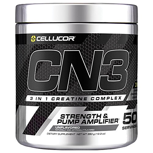 Pump Amplifier Muscle (Cellucor CN3 Creatine Nitrate, Creatine HCl, Creatine Monohydrate Powder, Strength and Pump Amplifier, Unflavored, 50 Servings)