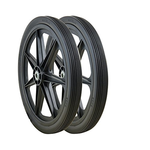 "Marathon P 20x2.0"" Rim Flat Free Cart Tire Assembly, 2 Pack"
