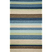 Liora Manne Ravella Stripe Rug, Indoor/Outdoor, 24-Inch by 36-Inch, Denim