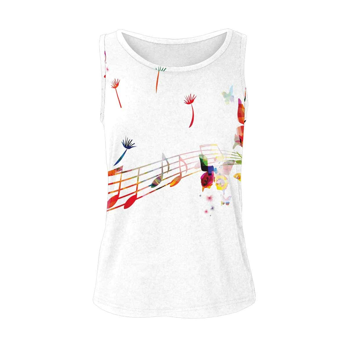S-2XL INTERESTPRINT Womens Workout Camisoles Stretchy Round Neck Tank Tops