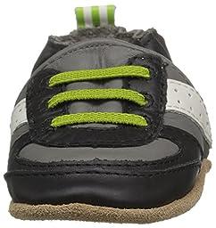 Robeez Boys\' Super Sporty Lime Loafer, Grey, 12-18 Months M US Infant