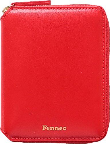 Fennec Zipper Wallet 2 フェネック 二つ折り財布 本革レザー 【Fennec Official】 B07DN44YBW レッド レッド