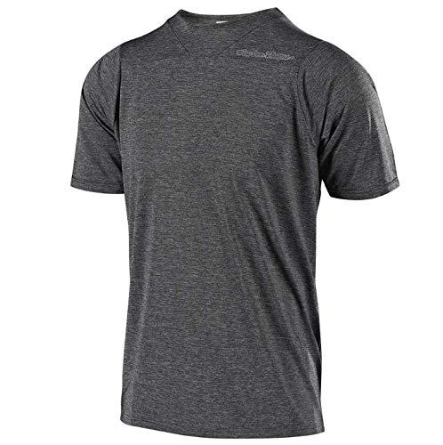 Troy Lee Designs Skyline Short-Sleeve Jersey - Men's Solid Heather Gray, M (Mountain Heather)