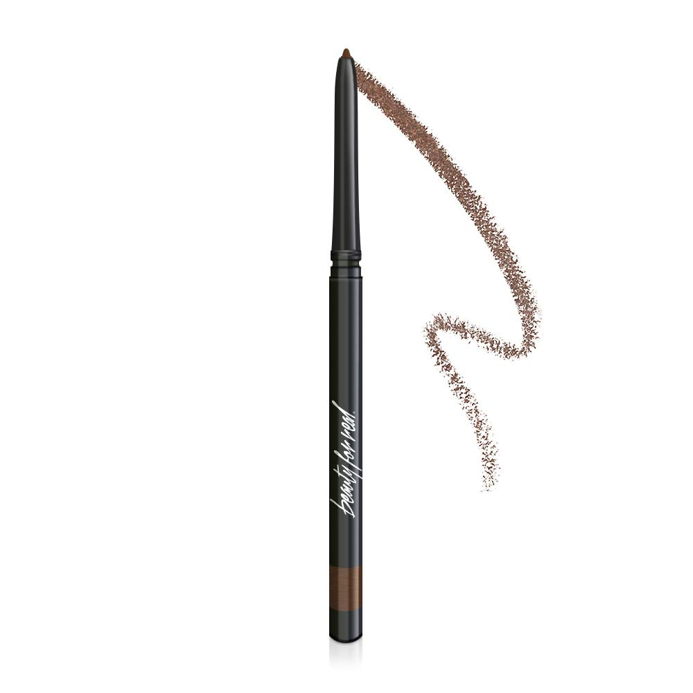 Beauty For Real I-Line 24-7 Waterproof Gel Eyeliner, Whiskey, Golden Brown Bronze, Cruelty Free Blendable Gel Formula for Precision Application, 0.01oz