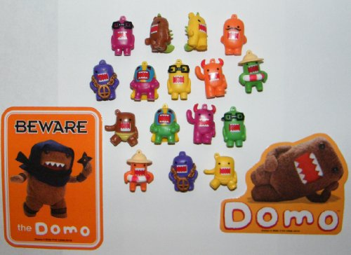 Domo Figure Charms 16 Colored Figures with Special Domo Stickers