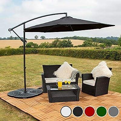 Harrier Sombrilla de 3 m voladizo, sombrilla para patio, sombrilla de jardín, 4 opciones de color: Amazon.es: Jardín