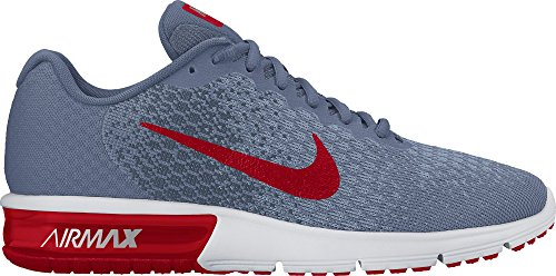 NIKE Men's Air Max Sequent 2 Running Shoe Ocean Fog/University Red/Squadron Blue Size 7.5 M US