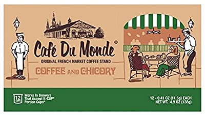 Cafe Du Monde Original French Market Coffee & Chicory Single-Serve K-Cups, 12 Count by Cafe Du Monde