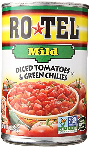 Ro Tel Tomatoes Diced With Green Mild Chiles  10 Oz