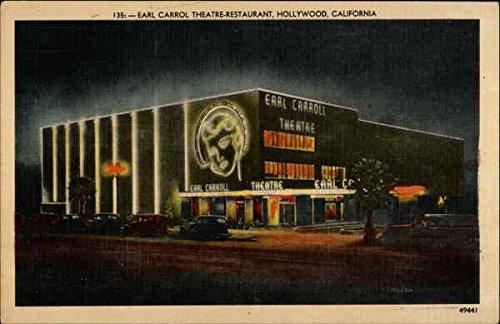 Earl Carrol Theatre Restaurant Hollywood  California Original Vintage Postcard