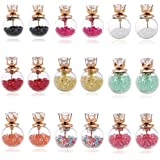 Jewels Galaxy Gold Plated Stud Earrings for Girls (Multi-Colour)(CB-BLLC-145)