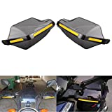 Hanperal 1Pair Motorcycle Hand Guards 7/8'' Handlebar Handguard Handle Protector Bike Brush Wind Guard (Smoke-Transparent)