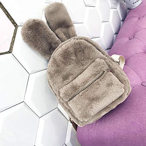 De Hombro Mochila Conejo Felpa Mujer Caqui Oído Mochilas Bolsos Ecotrumpuk Para Mini pzggq8