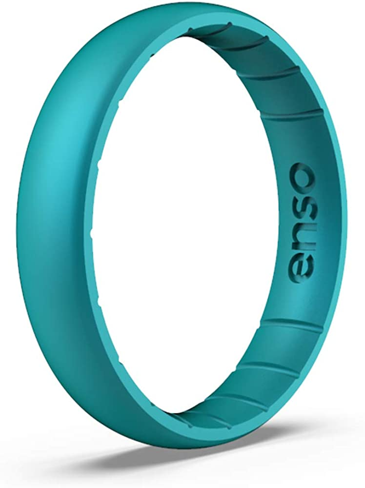 Made in The USA Comfortable Enso Rings Thin Elements Silicone Ring and Safe Lifetime Quality Guarantee Breathable Infused with Precious Elements
