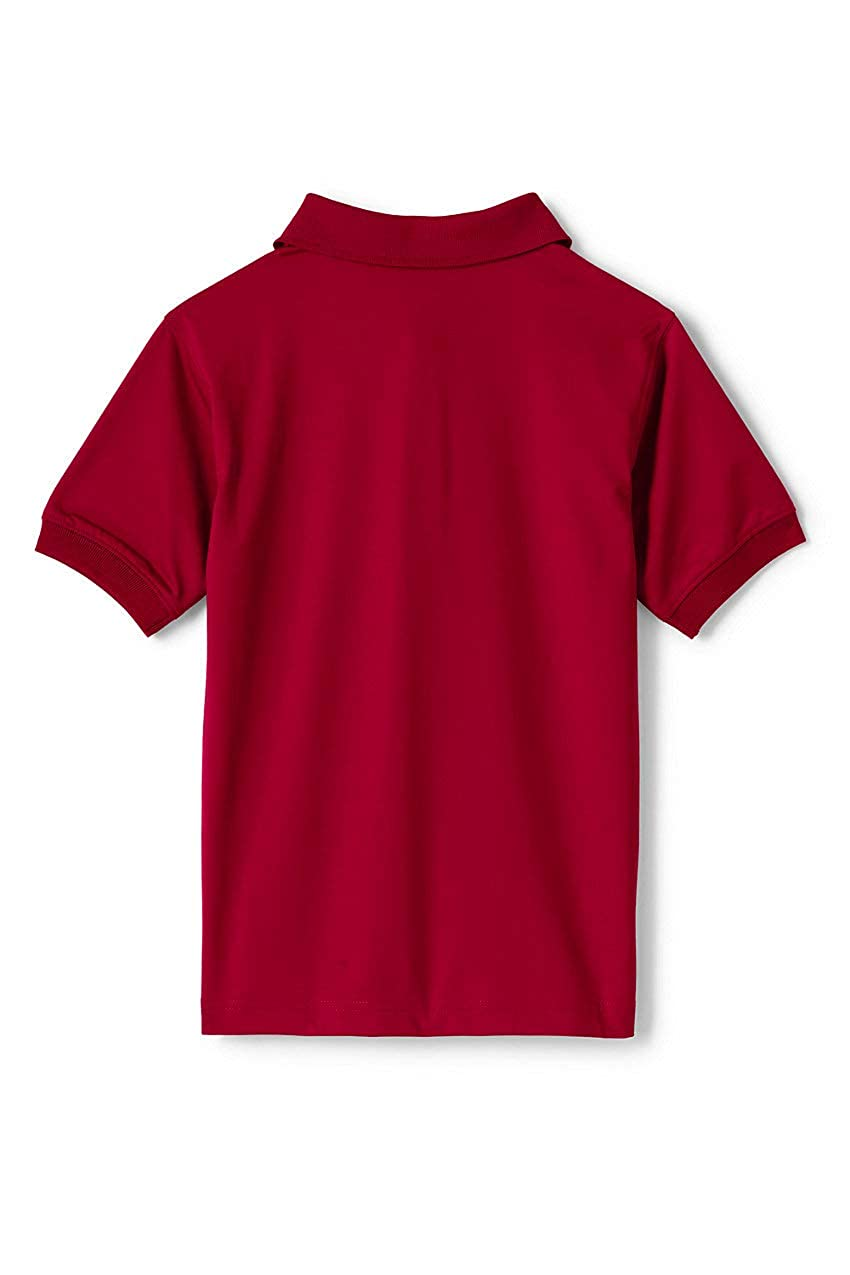 Lands End School Uniform Mens Short Sleeve Rapid Dry Polo Shirt