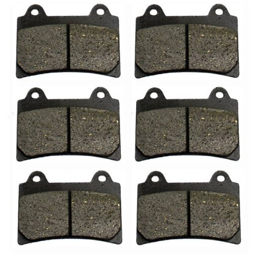 1996-2000 Yamaha Royal Star Tour Classic XVZ1300 Front & Rear Brake Pads (Xvz1300 Royal Star)
