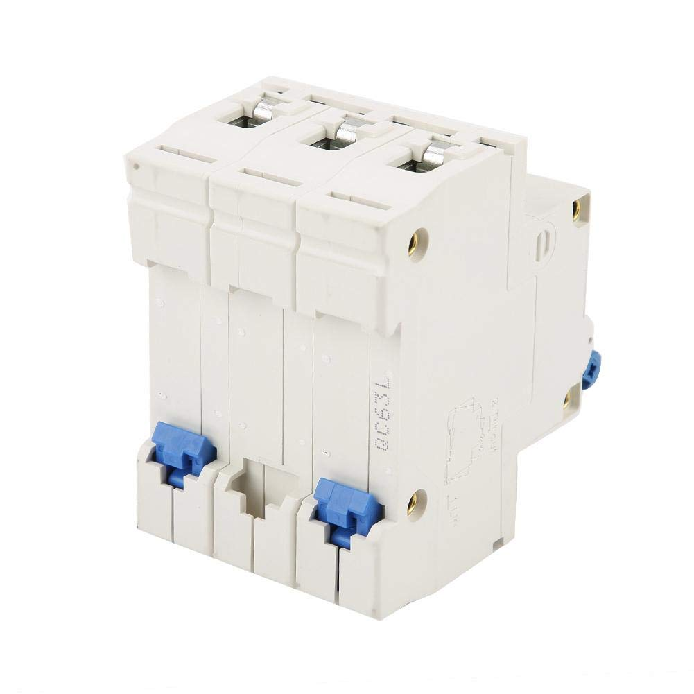3Pole 220//380V 63A FI-Schutzschalter Fehlerstromschutzschalter mit /Überlastkurzschlussschutz f/ür die Sicherheit elektrischer Ger/äte