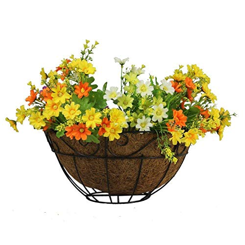 Window-pick@Jia Coco Replacement Liner Round Garden Wall Basket Coco Fibre Trough Liner Manger Flower Coconut Fibre Trough Liner for Garden Flower Pot