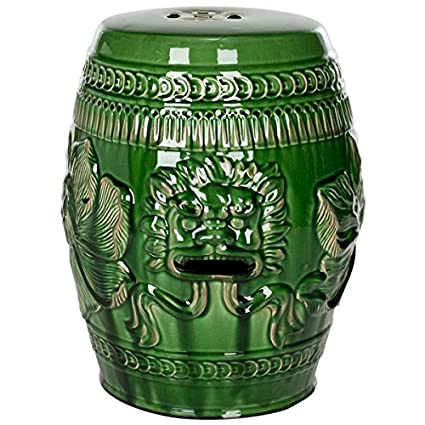 Exceptionnel Safavieh Paradise Dragon Jade Green Ceramic Garden Stool