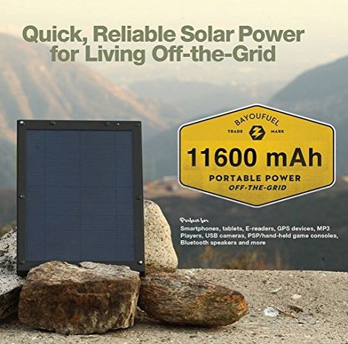 BayouTech OTG G4 Portable Solar Power Bank Charger and Battery Pack by Gatorwire (Image #9)