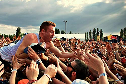 Unique Posters Macklemore American Rapper Singer Songwriter 12 x 18 Inch Quoted Multicolour Rolled Poster UPMA30