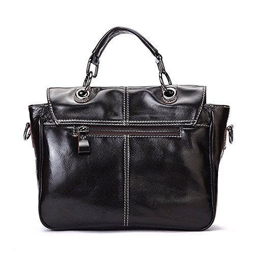 Leather Single Lady Messenger Female 20cm Wax Shoulder Oil 28x9x Bag Satchel Handbag YfTFY