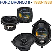 Ford Bronco II 1983-1988 Factory Speaker Upgrade Harmony R4 R68 Package New