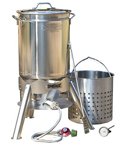 Bayou Classic 800-144 44 quart Boil and Brew, Stainless Deep Fat Turkey Fryer