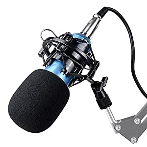 aw bm800 pro condenser microphone kit shock mount home studio audio cable sound. Black Bedroom Furniture Sets. Home Design Ideas