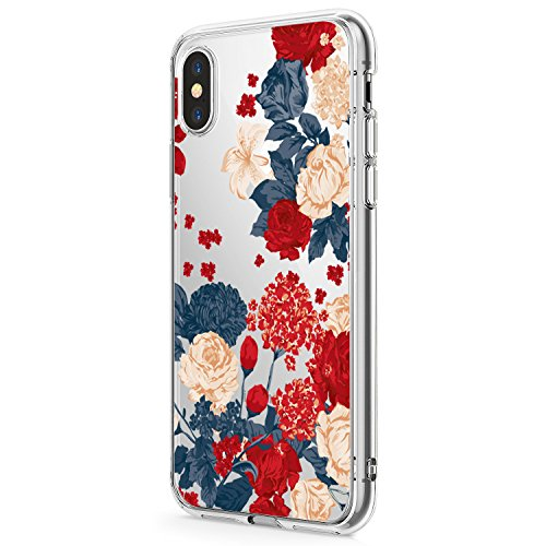 iPhone-X-Case-TPU-Silicone-Cute-Flower-Pattern-Amusing-Design-Protective-Cover