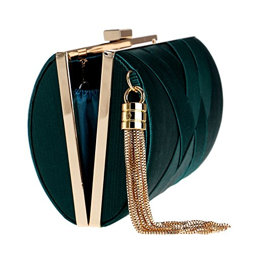 Pink Silk Tassel Evening Chain Elegant Women's Bag Dress Retro Messenger Bag Bags Bag Clutch Shoulder Lady ZwdI5q5S