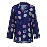 Plus Size ShenPr Women's Casual V Neck Floral Print Long Sleeve Blouse Shirt Tunic Tops for Autumn