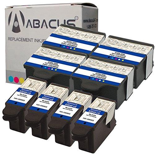 Abacus24-7 Compatible Kodak Printer Ink 10B 10C Cartridges, 8 pack ()