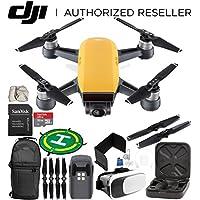 DJI Spark Portable Mini Drone Quadcopter (Sunrise Yellow) EVERYTHING YOU NEED Starter Bundle