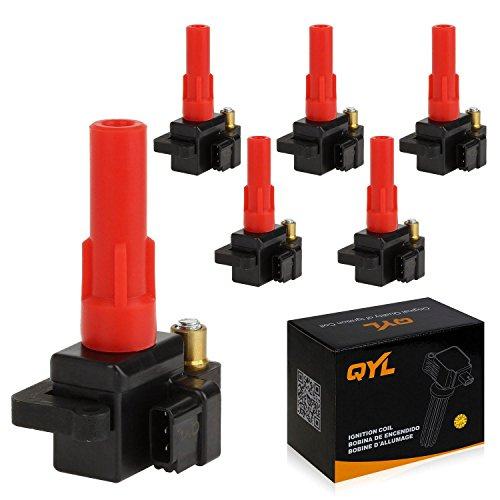 QYL Pack of 6 Ignition Coil for Subaru B9 Tribeca Legacy Outback Tribeca H6 3.0L 3.6L C1326 UF287 C287 UF-287