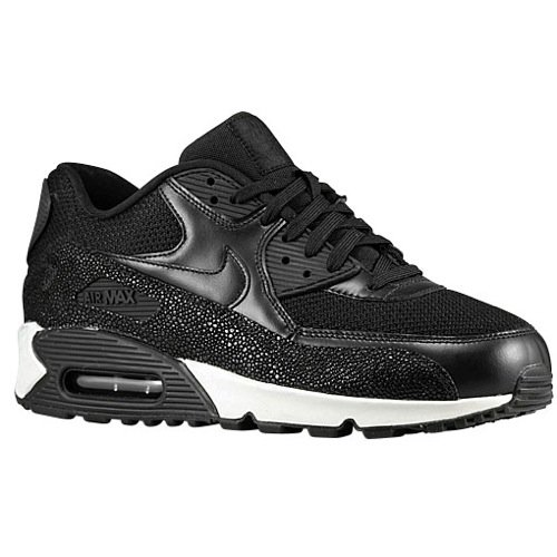 Nike Men's Air Max 90 Leather PA, Stingray-BLACK/BLACK-BLACK-SEA GLASS, 6 M US by NIKE