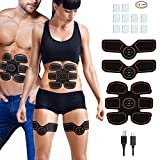 Muscle Toner Abdominal Toning Belt, Rechargeable Wireless Muscle Trainer, Intelligent EMS ABS Stimulator Rechargeable for Men Women, Home Office Fitness Equipment for Abdomen/Arm/Leg