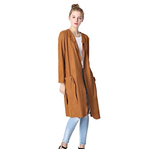 WanYang Mujeres Jacket Outwear Chaqueta Larga Parka Pullover Otoño Blusa Chaqueta Casual Tops