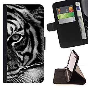 For Samsung Galaxy Note 4 IV Case , Ojo Negro White Stripes África- la tarjeta de Crédito Slots PU Funda de cuero Monedero caso cubierta de piel
